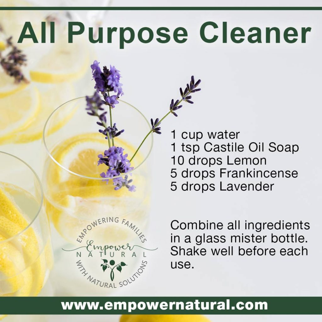 All Purpose Cleaner with lemon, frankincense, lavender