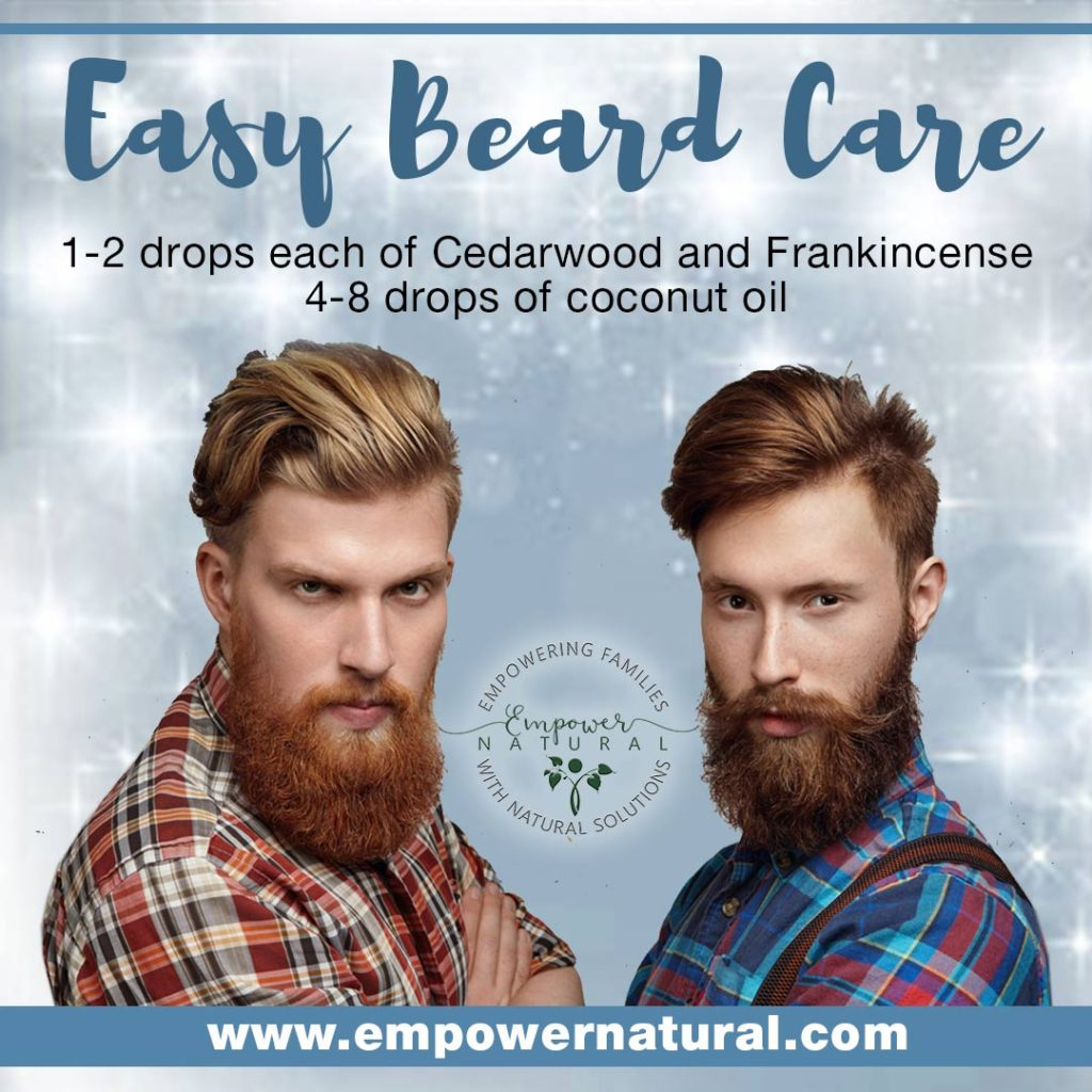 easy Beard Care using Cedarwood and Frankincense
